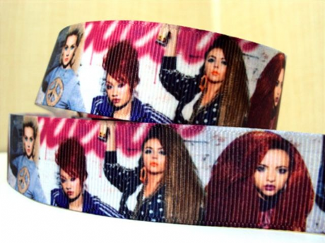 1 METRE LITTLE MIX SINGLE PICS RIBBON SIZE 1 INCH BOWS HEADBANDS CARD MAKING